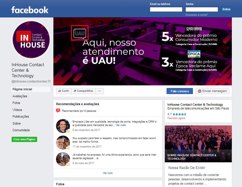 Campanha UAU - ação de endomarketing da inhouse